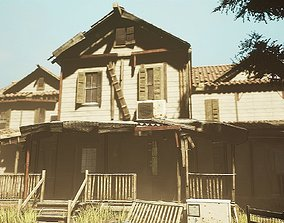 UE4 Abandoned wooden house modular V02Pro Updated 3D asset
