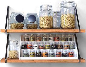 Spices and cereals 3D
