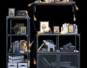 3D model PBR Shelves loft IKEA