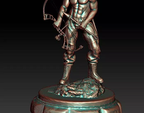 Rambo 3D Model STL File for Carving CNC Router Engraving