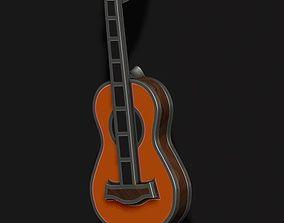 Guitar pendant with enamel 3D print model