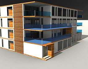 G3 Modern Style Apartment Building 3D