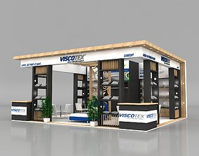 Exhibition Stand 8x7m Height 360 cm 3 Side Open 3D Model