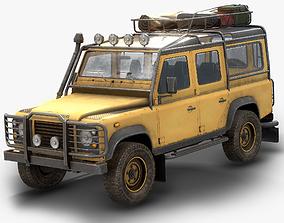 Land Rover Defender 110 Low Poly 3D asset