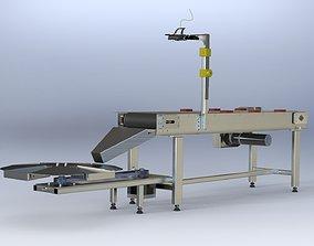 3D model Conveyor Sorting System