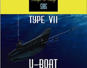 3D model Type VII- U-Boat