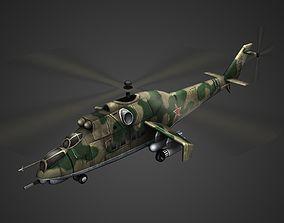 Mi-24 Hind Helicopter 3D model