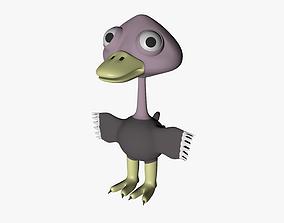 3D model Funny Cartoon Ostrich