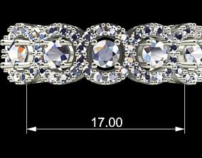 Ring 5 Diamond jewelry 3D printable model