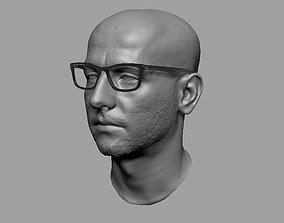 3D Human head boiled