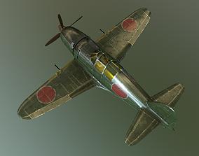 J2M2 fighter of Japanese Navy in World War II 3D asset