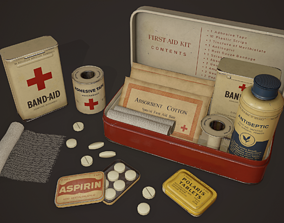 Vintage First Aid Kit - PBR Game Ready 3D model