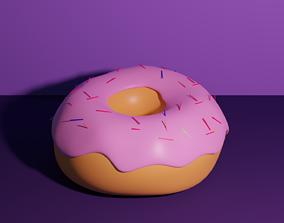Donut 3D model restaurant