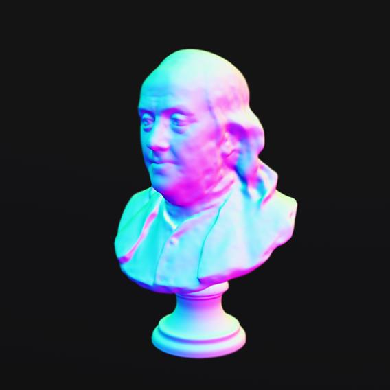 Benjamin Franklin Bust WIP