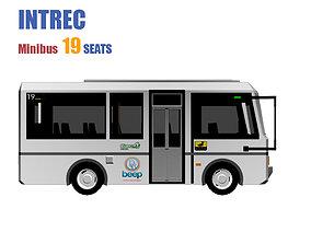 3D model VR / AR ready Minibus 19 SEATS