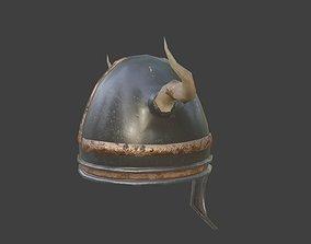viking helmet with pbr textures 3D model
