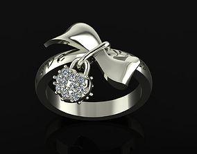 3D print model Girl ring bow 129