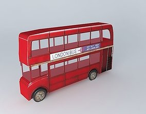 3D model London bus houses the world