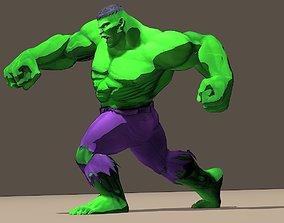 3D model Hulk Marvel Vs Capcom 3 Rigged for poser