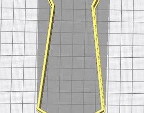 Cookie-cutter tie 3D printable model
