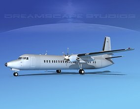 Fokker F-60 Bare Metal 3D model