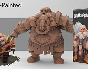 low-poly 3D Hand-Paint Character Dwarf for games