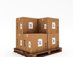 game-ready 3D Warehouse Box Model