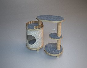 3D Wooden Cat Tree Construction part 2
