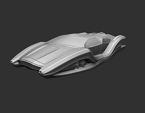Car of the future spaceship 3D print model