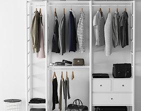 3D model Wardrobe Elvari Ikea