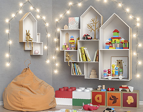 Toys and furniture set 27 3D
