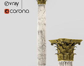 Roman corinthian column 3D PBR