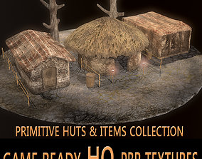 Primitive huts 3D model