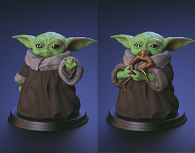 Baby Yoda - Using The Force and 3D printable model 4