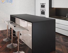 sinktable Kitchen Furniture X 3D model