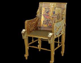 3D Tutankhamun Throne
