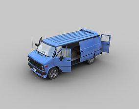 3D asset GMC VAN