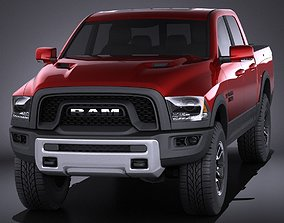 Dodge Ram 1500 Rebel 2015 VRAY 3D model