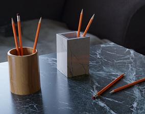 3D Pencil cups and pencils