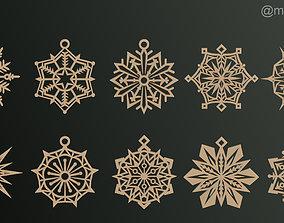 3D print model Snowflakes Classic heroes