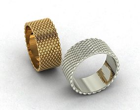gold wide ring model with original texture