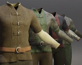 3D asset Four Guard Man Suits