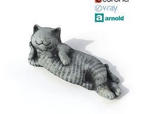 3D Statuette happy cat