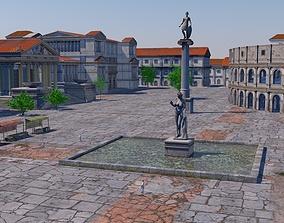 Classic romanic city 3D