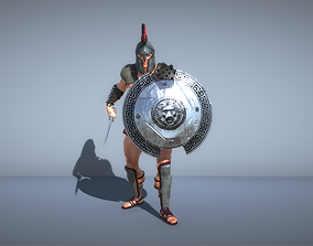 3D model Gladiator Soldier with sword and shield