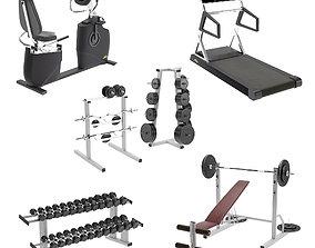 Equipment gym steel 3D model