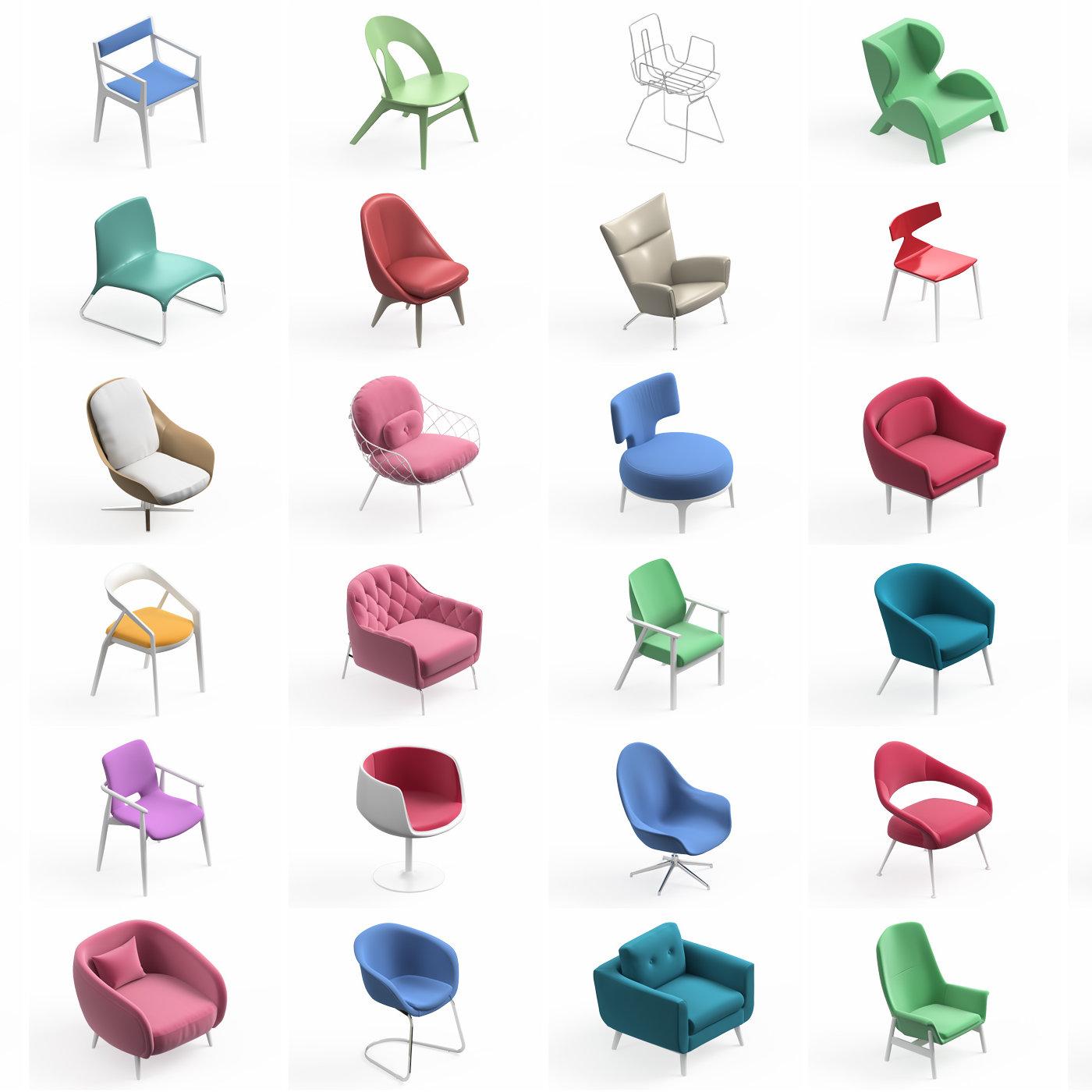 Armchair Modern Collection 36x