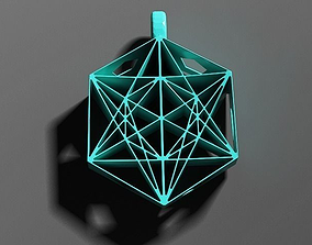 3D printable model Metatrons Cube Pendant