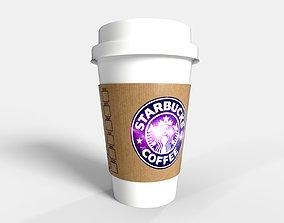 PBR Starbucks Coffee Cup - Customized restaurant 3D model