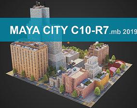 City District C10-R7 MAYA 3D model